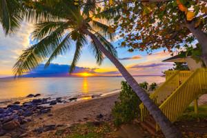 Hawaii Beach Sunset by Steve Ibach Photography