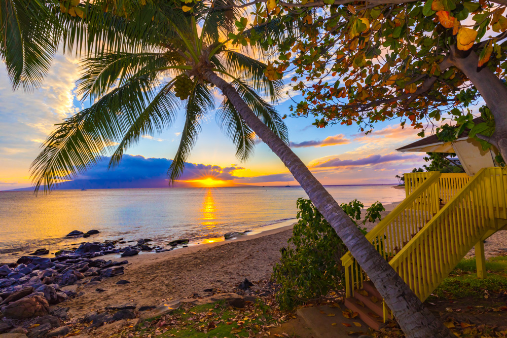Hawaii Beach Sunset by Steve Ibach Photography