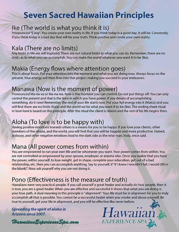 Seven Sacred Principles