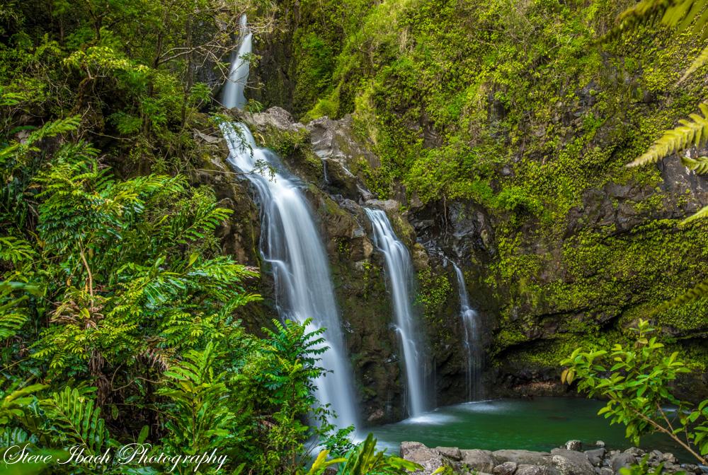 Waikani Falls by Steve Ibach Photograpy