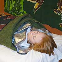 Woman getting body wrap at Scottsdale day spa