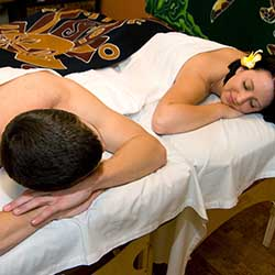 Young couple getting massage in Scottsdale day spa