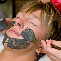 Man getting facial at Phoenix, AZ day spa
