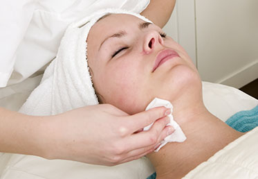 Woman receiving anti-aging facial at Chandler day spa