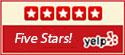 <span>, YELP 5 Stars</span>